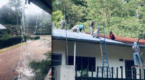 Neue Dächer für die Häuser im Kinderdorf Thailand