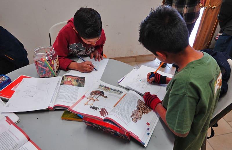 Schule im Kinderdorf El Oasis in Mexiko