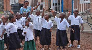 Tanz und Musik im Kinderdorf Patmos in Kongo